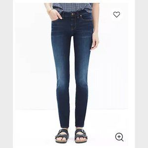 NWT Madewell Tall Skinny Skinny Jeans in Lakeshore